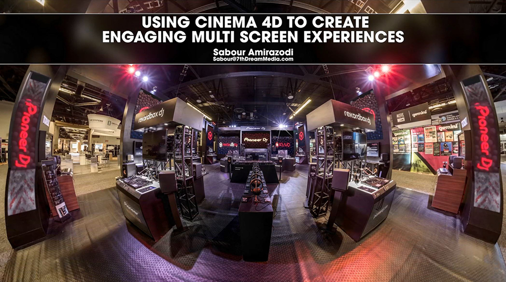 Cineversity Tutorial: Creating Multi Screen Experiences with C4D - Pioneer DJ Booth