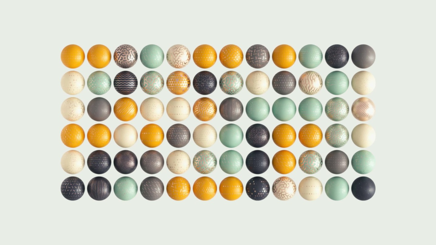 Modern Surface Material Collection on spheres