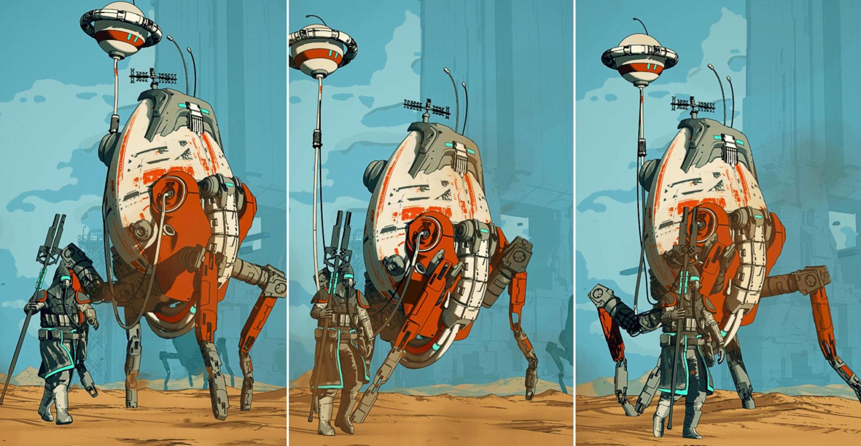 Beeple Bot Walk Collage