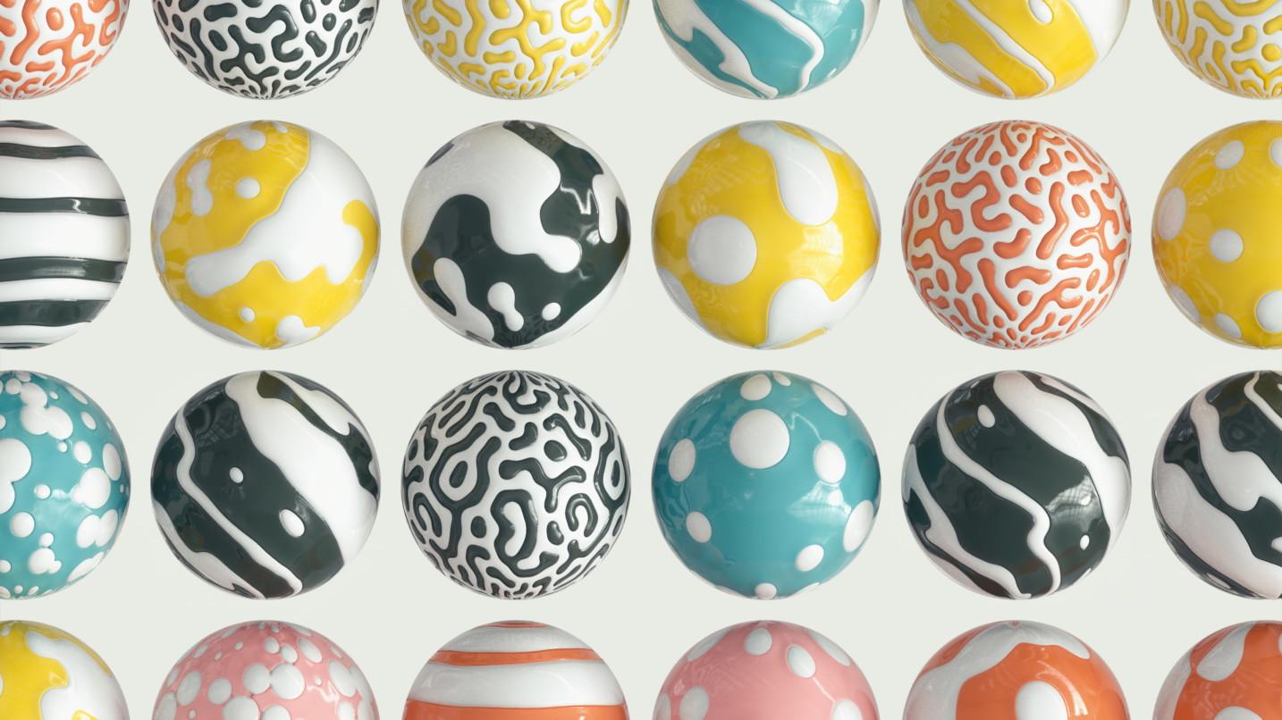 Patterned balls