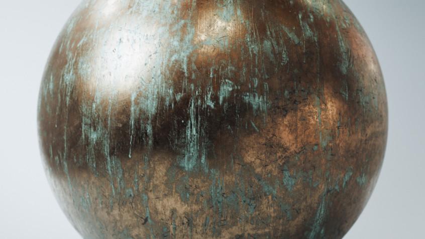 Corroded Bronze sphere