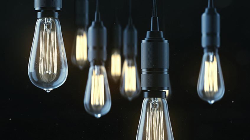 Edison Bulbs + Dust