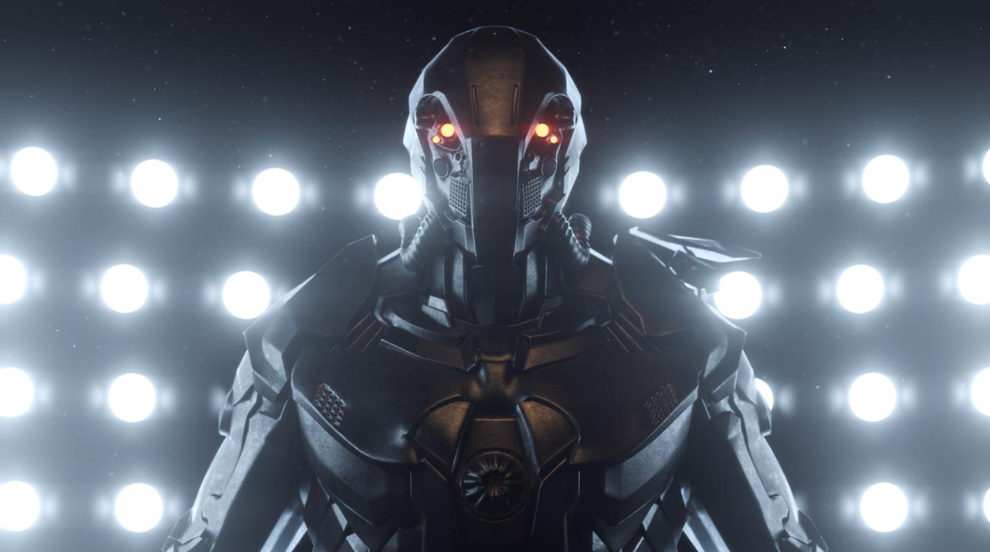 Redshift robot soldier