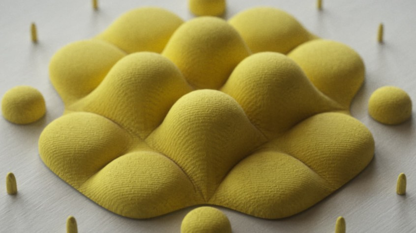 Curved Yellow Object