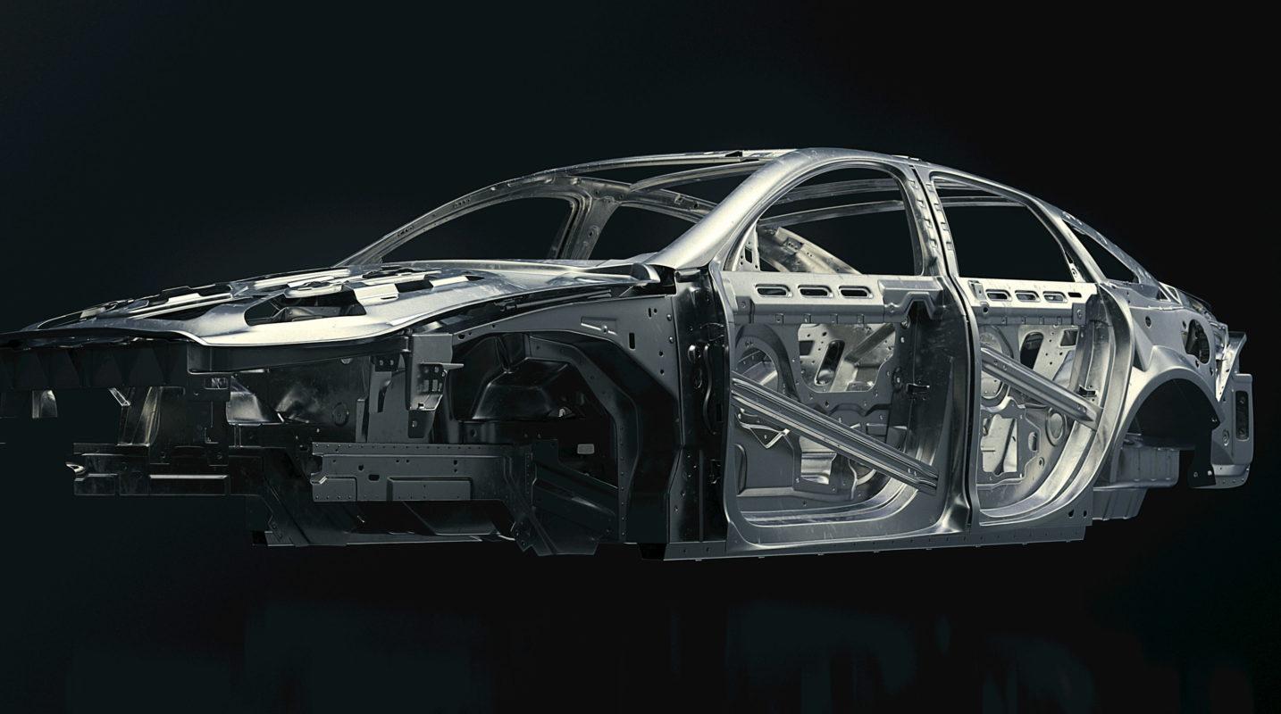 3/4 car frame